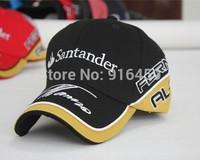 Free shipping Sandander  alonso signature F1 racing car cap Motorcycle embroidery sports MOTO GP baseball cap drop shipping