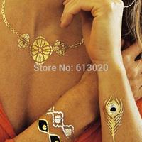 Gold Temporary Metallic Flash Tattoos / Silver / Skin Jewelry