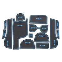Non slip Interior door pad/cup mat door gate slot mat for HONDA FIT 2013 2014 auto accessories free shipping