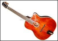 fully handmade sunburst color maple wood flat guitar