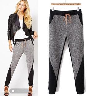 Buy Women Sport Harem Pants Sweatpants New 2015 Fashion Autumn Winter Casual