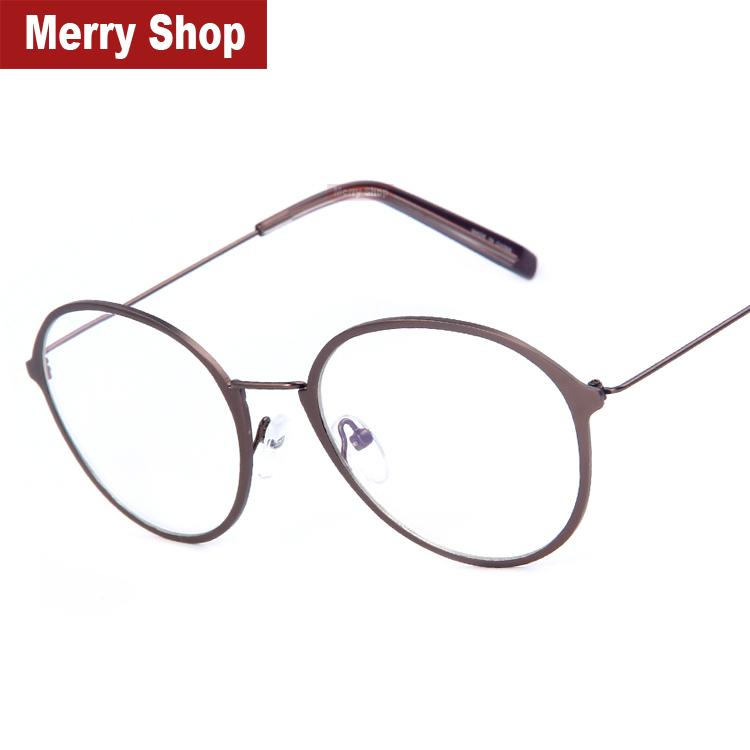 2014 New Fashion Eyeglasses Frames Men Big Metal Glass Frame Women Round Punk Glasses Frame High quality 4 Color(China (Mainland))