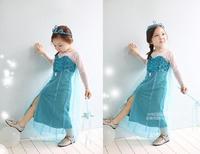 Free shipping-Kids child girls long sleeve dress kids clothing child clothes