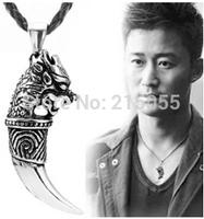 Wholesale - simple and stylish men's titanium steel necklace pendant Spike