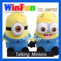 Free shipping Despicable Me Minion Talking Minion Plush Toy