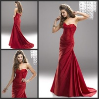 2014 Fall Fashion Sexy and High Quality  Mermaid Prom Dresses Formal Women Gown Sweetheart With Taffeta Fabric Lace Up Back