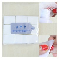 10X900pcs Nail Art Tips Manicure Polish Remover Clean Wipes Cotton Lint Pads Paper/Nail Art Wipes Lint Cleaner Paper