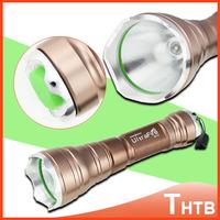 UltraFire CREE LED 2000 Lumens Tactical Torch Flash Light Zoomable Waterproof Flashlight Lanterna Electric Shocker Flashlights
