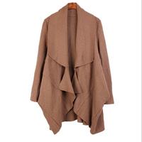 Irregular Women Warm Woolen Coat 2014 Fashion Women's Long Overcoat Big Size Female Jackets Plus Size Ladies Loose Coat 3 Colors