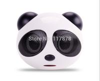 Cute Panda Head Computer audio, multimedia computer speakers, mini speakers, Hot sale !