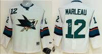 Discount Kids San Jose Sharks Jerseys #12 PATRICK MARLEAU White Ice Ice Hockey Jerseys Stitched Mix Orders