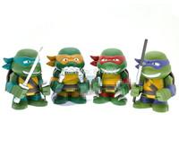 4pcs/lot 2014 New High Quality Teenage Mutant Ninja Turtles Action Figure 4 Hand-Done TMNT Children Gift Toys Cute TMNT Style