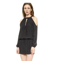 2014 Womens Autumn Ladies Long Sleeve Lantern Sleeve Stripless Dress Short Design