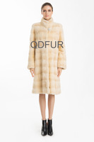 2014 Women's Luxury Natural Mink Fur Coat Jacket  Female Fur Outerwear Slim Long Garment  QD70762