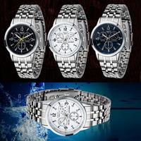 Feitong 2014 New arrival Hot Sale 1PC Luxury Waterproof Stainless Steel Quartz Women Wrist Watch Jewelry