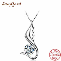 Fine Jewelry beautiful crystal necklaces & pendants for lady statement necklace 100% Pure 925 sterling silver necklace YDZT-0020