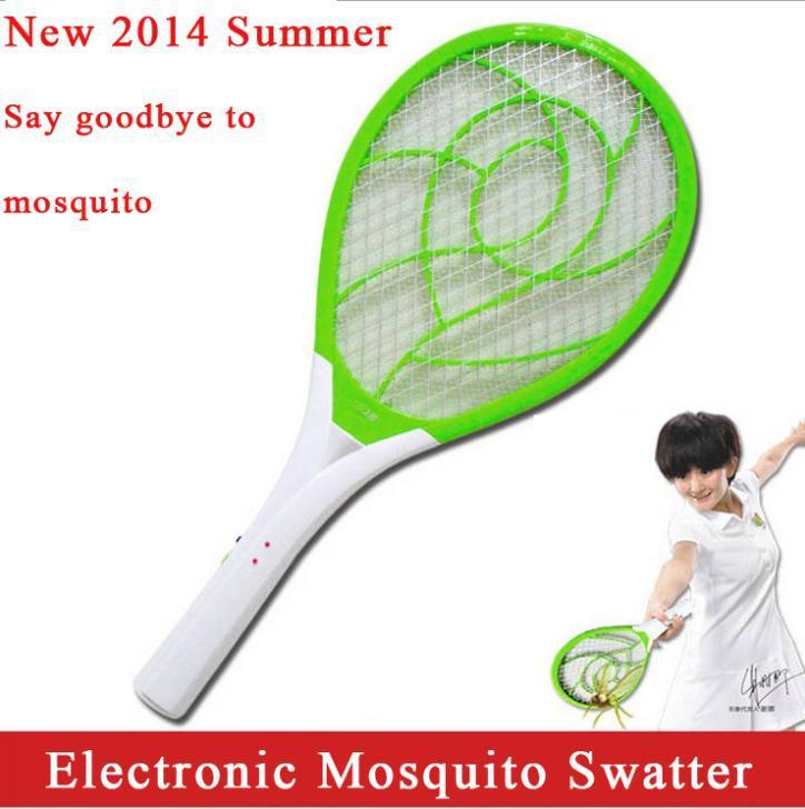 venda alta qualidade eletrônica swatter mosquito recarregável voa inseto líquido assassino raquete mata-moscas #5048 com lanterna led(China (Mainland))