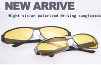 2014 Night Vision driving sunglasses men brand designed sports men sun glasses driving glasses polarized sunglasses