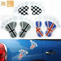 MINI Cooper One Clubman Countryman paceman bear foot print sticker, union jack bear paw sticker, 3d crystal glue sticker