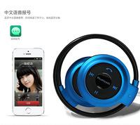 Stereo Headset Folded Bluetooth Earphone Sports Wireless Handsfree Neckband Earphones Headphone for iPhone5 5s Samasung