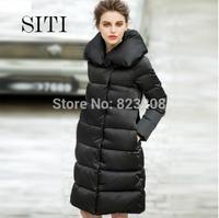 SITI S-XL 2014 Newest Fashion Brand Women Black Wild and portable thicken down jacket 14DC011