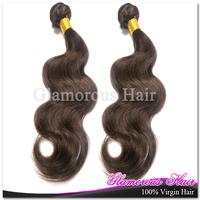 Hot Sales Color 4 100% Human Hair Cheap Brazilian Hair 3 pcs Lot Free Shipping