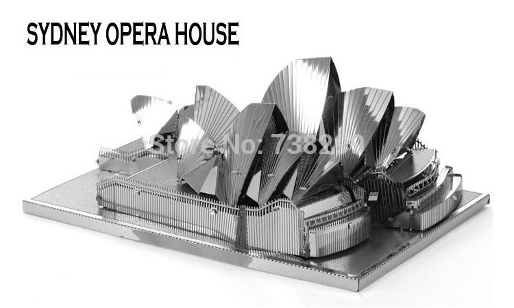 Australia Sydney Opera House Miniature 3d Puzzle Model Diy Nano Bulid Metal 3d Solid Puzzle Model Kits 1 1000 Scale Model