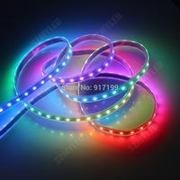 1M 60 LEDs Pixels DC5V WS2812B WS2811 WS2812 Individually Addressable SMD 5050 RGB LED Strip Light Black PCB + Free Shipping