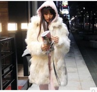 2014 winter leather jacket and long sections of grass leather plush fur coat wool coat women new nightclub YHP148 R1P