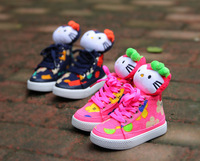 Baby Winter Boots Flock Children's Boots Boys Girls Boots Cute Cat Warm Cotton Shoes 2 Colors Children sneakers Euro size 21-25