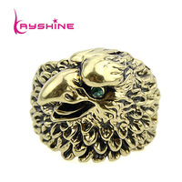 Punk Anel New Arrival Antique Gold Color Alloy Eagle Rings For Aneis Masculinos