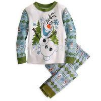 Free shipping Frozen clothing set/baby boys girls long sleeve Christmas pajamas set/kids cute Olaf  pajamas,retail