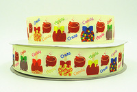 WM /OEM 1.5inch 38mm 140916053 Sweet Candy Bows Printed grosgrain ribbon 50yds/roll free shipping
