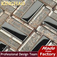[KINGHAO] ship wheel building material glass tile wall cladding living room wall art silver wallpaper KF154803
