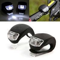 2Pcs/Set Waterproof Super  LED Bicycle bike Head Light Headlamp Headlight Free Shipping #A2002040