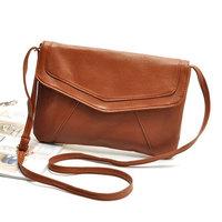 2015 Women Leather Envelope Shoulder Bags Ladies Small Vintage Messenger Bag Designer Crossbody Satchels Sling Bag WJ1068