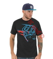 Free Shipping 2014 Latest Troy Lee Designs Black Blue Sam Hill T-Shirt TLD Cotton short-sleeve T-shirts