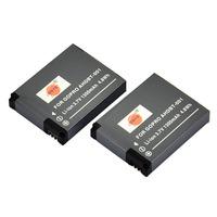 DSTE 2PCS Replacement Li-lon Battery Pack for Gopro AHDBT-001 Hero Hero2 Camera