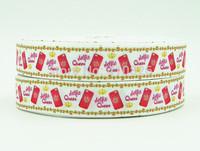 WM ribbon 7/8inch 22mm 140916052 Queen Crown Print OEM grosgrain ribbon 50yds/roll free shipping