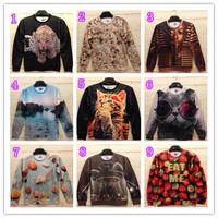 2014 New Men's printed 3d Cotton Tops Fashion Autumn Man Hoodies & Sweatshirts Casual Long-sleeve t shirts Jersey Undershirt