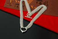 New! 925 Silver Water-Wave Necklaces High Quality Free Shipping Party Accessories Fashion Girl's Women Jewelry Wholesale XL155