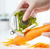 1pc/lot Novelty Household 3 in 1 Peeler Grater Slicer Kitchen Tools Stainless Steel Blade Vegetable Potato Cutter FK870723