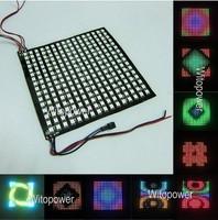 5X 16*16 Pixels WS2812B LED Full Color Digital Flex Panel RGB Light Display Board 5V