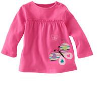 6pcs/Lot Free shipping Wholesale pink spring autumn cotton t shirt girl  long sleeve t shirt