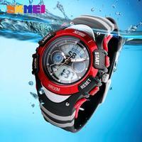 Children Watch 2 Time Zone LED Digital Quartz Multifunctional Kids Watches 30m Waterproof Student Sports Dress Wristwatches