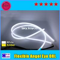 DHL ship 10X Flexible Daytime Running Light Angel Eye DRL LED strip light bar panel lamp auto headlight LED front turn signals