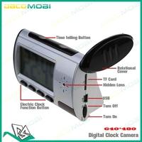 640*480 AVI Alarm Clock Shape Hidden Camera with Remote Control Clock Camera 30Pcs/Lot Free DHL Shipping