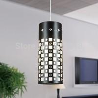 innovative items design lamps power110v 220v e27*1 lamps holder D120*H310mm iron crystal pendant Lights for home indoor lighting