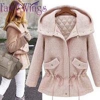 2014 Woolen Women Winter Coat Woolen Long Sleeve Warm Thick Hooded Casual Slim Fashion Overcoat Casacos Femininos Blends PH2329