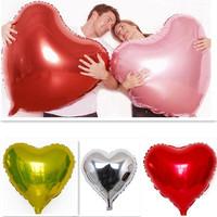 1pc/lot Super Big Heart Shape Inflatable Balloon Aluminum Foil Wedding Marriage Decoration Candy Festival 80*75cm DP870737